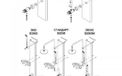 Душова кабіна бокс, 4 стінки, графітові скла Оріон №2