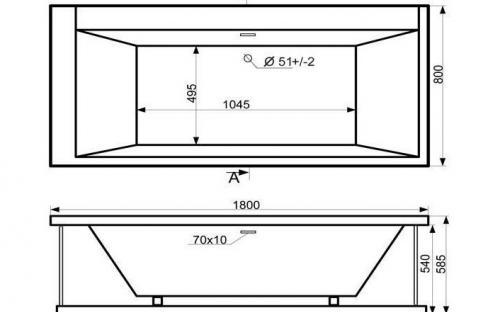 Схема ванны Гранд  Тритон