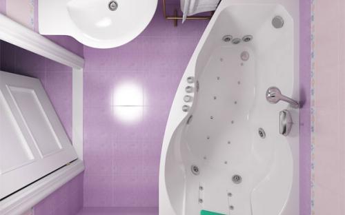 Внешний вид левой ванны Бриз Тритон