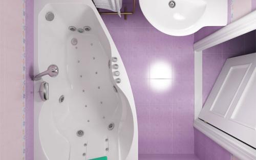 Зовнішній вигляд правої ванни Бриз Тритон