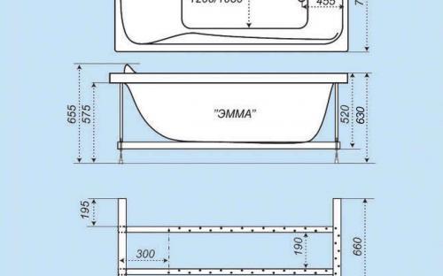 Схема ванни Емма 170