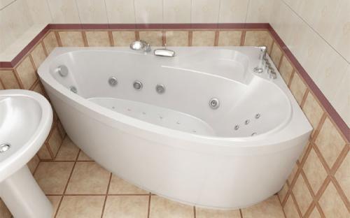 Зовнішній вигляд лівої ванни Пеарл-Шелл Тритон
