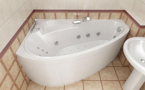 Зовнішній вигляд правої ванни Пеарл-Шелл Тритон