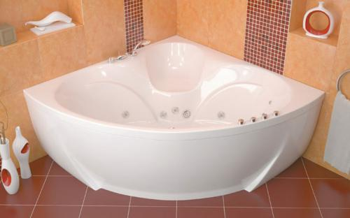Внешний вид угловой ванны Сабина Тритон