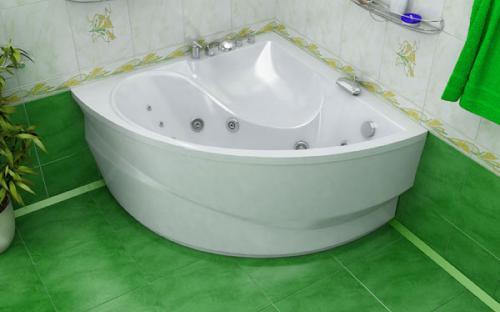 Внешний вид угловой ванны Синди Тритон