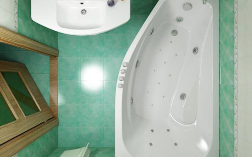 Зовнішній вигляд лівої ванни Скарлет Тритон