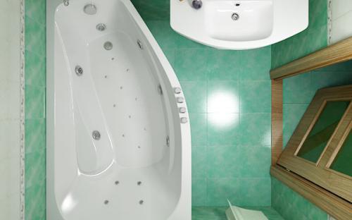 Внешний вид правой ванны Скарлет Тритон