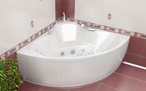 Зовнішній вигляд кутової ванни Троя Тритон